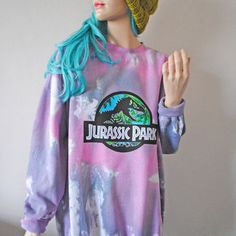 Jurassic Park Pink Tie Dye Jumper