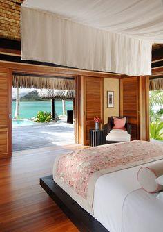 Regis Bora Bora Resort – My room awaits. Regis Bora Bora Resort – My room awaits. Bora Bora Resorts, Bora Bora Honeymoon, Hotels And Resorts, Jamaica Resorts, Vacation Places, Dream Vacations, Bora Bora French Polynesia, Tahiti, Bungalow Interiors