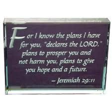 Jeremiah 29:11 is very special to me...