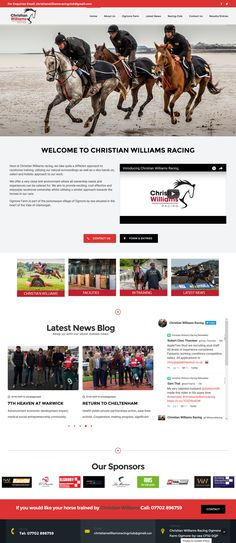 New website for Christian Williams Racing at Ogmore South Wales Portfolio Web Design, South Wales, Racing, Christian, Website, Running, Auto Racing, Christians