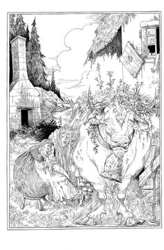 Chris Riddell illustrates The Sleeper and the Spindle for Neil Gaiman