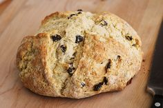 Irish Soda Bread... yes, I know currants aren't traditional & someone's Irish grandmother is rolling over in her grave, but hey, I like it with raisins!