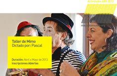 CONVOCATORIA - Actividad: Taller de Mimo | A cargo de: Pascal | Convocatoria: Inscripciones abiertas. | Dirigido a:  Adolecentes a partir de 15 años. | Lugar: macsa - Museo de Arte Contemporáneo de Salta. Información: Ampliar - Clic Aquí. http://www.macsaltamuseo.org/press/comunica/013/abr/act/actividad013MIMO.pdf