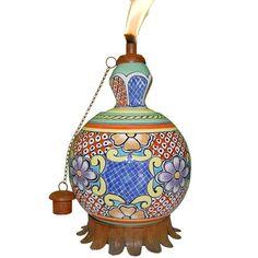 Ixtapa Mexican Clay Pottery Oil Lamp