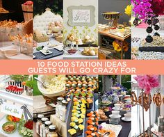 10 Food Station Ideas Your Guests Will Drool Over Wedding Reception