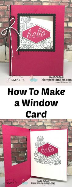 Instructions & Video for making a Window Card using Stampin' Up! Accented Blooms stamp set and framelits.