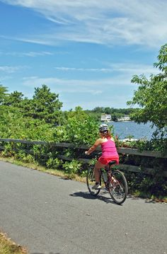 Ride your bike on the Cape Cod Rail Trail - miles of scenic trails through cranberry bogs, kettle ponds and waterways!