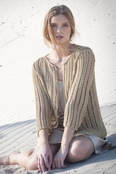 Wildwood Cardigan in MALIBU: Graceful and elegant, this mesh cardigan in cotton yarn MALIBU delivers year-round comfort and style. Available in sizes S (M, L, XL, 2X, 3X).