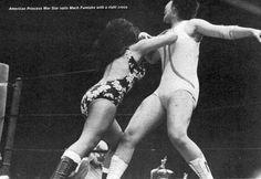 Princess War Star laying into Mach Fumiake http://joshipuroresu.blogspot.com/2016/06/old-school-japanese-female-wrestling.html