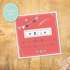 Th Dadster Fathers Day Card by Little Joy Designs    #printable Father's Day card #DIY Father's Day