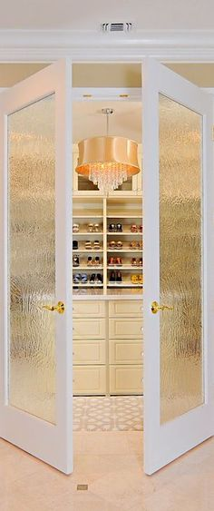 Luxurious, feminine Master Closet with French doors... | HGTV ᘡղbᘠ