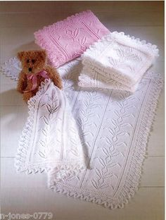 Vintage Knitting Pattern for Baby blanket / shawl by NewBabySoon