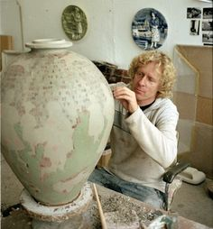 "Potter Artist Grayson Perry (British: 1960 - ) Grayson Perry is the transvestite potter who won the 2003 Turner Prize, picking up the award dressed as ""Claire""."