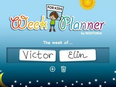 Week Planner for Kids by Novitura - an app for helping kids understand the concept of planning daily/weekly tasks.  Original Appysmarts score: 82/100