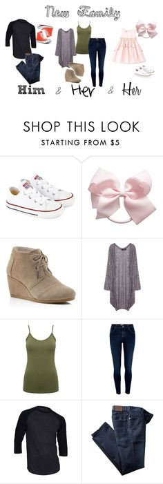 """""""New Famliy"""" by claire-kiolbasa ❤ liked on Polyvore featuring Converse, TOMS, M&Co and River Island"""