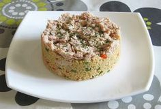 Recipes for first cooks: Couscous with vegetables and tuna