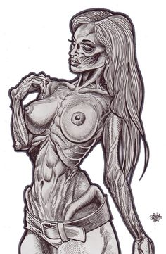 Zombie Art Pinup 236 Kato Zombie Art by Rob Sacchetto