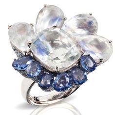 Pomellato Pom Pom London ring in white gold with moonstone (=)
