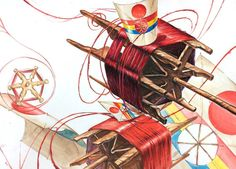 Creative Design, Design Art, Kite, China, Printmaking, Compost, Drawings, Illustration, Composition