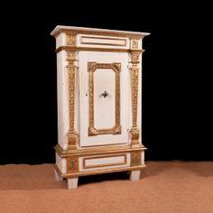 Antique Painted Baroque Armoire c.1740 Antique Pine Furniture, Painting Antique Furniture, European Furniture, Antique Paint, Painted Furniture, Furniture Storage, Antiques For Sale, Vintage Antiques, Regions Of Europe