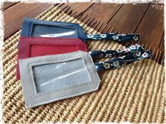 porte-étiquettes bagages faites avec des chutes de cuir...