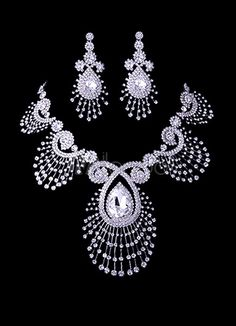 $151.99 Deluxe Peacock Rhinestone Jewelry Set For Bridal - Milanoo.com