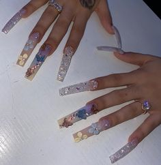 Bling Acrylic Nails, Coffin Nails, How To Do Nails, My Nails, Exotic Nails, Fire Nails, Luxury Nails, Gorgeous Nails, Nail Inspo