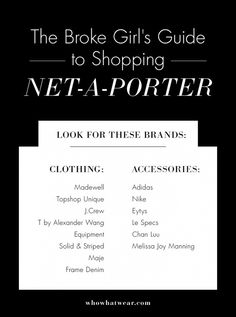Shop Net-A-Porter without breaking the bank