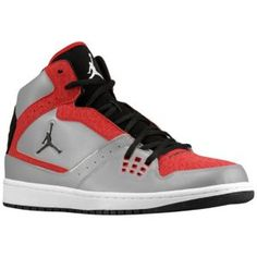 Big Bro would love to find these under the tree! Jordan 1 Flight - Men's - Basketball - Shoes - Metallic Platinum/Gym Red/Black/Cement Grey