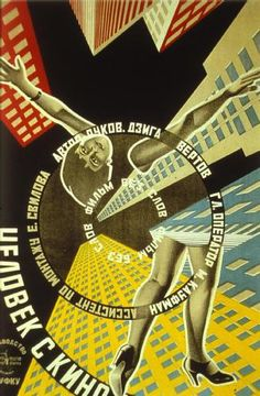 """MP026. """"The Man with the Movie"""" / Russian Movie Poster by Stenberg Brothers (Dziga Vertov 1929) / #Movieposter"""