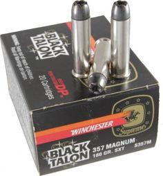 Black talon 357 magnum 180 gr sxt ammo s357m 20 rounds black talon