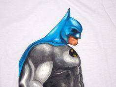 https://flic.kr/p/GfDtky | Camiseta Pintada à Mão Batman |  O Cavaleiro das Trevas para você levar no peito.