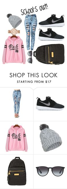 """""""school time!"""" by elysse-r on Polyvore featuring NIKE, Juicy Couture, Ray-Ban, Michael Kors, women's clothing, women, female, woman, misses and juniors"""