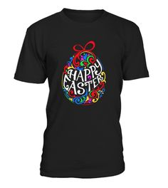 Happy Easter Shirt Colorful Eggs
