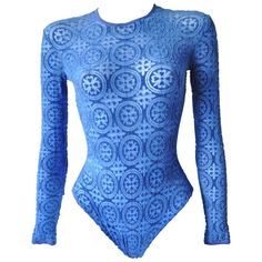 Gianni Versace Coupe des Velours Punk Collection Body Suit   From a collection of rare vintage shirts at https://www.1stdibs.com/fashion/clothing/shirts/