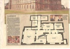 Downton Abbey Basement Floor Plan. Highclere Castle, Hamptonshire, South East England, UK