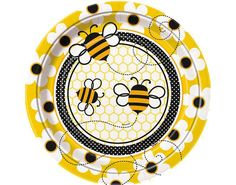8 Busy Bees Paper Plates for Kids Parties | the littlecraftybugs company
