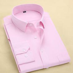 Camisa Social Masculina Rosa Slim Com Detalhe De Poá
