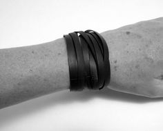 Black Wrap Bracelet Recycled Bicycle by TheRecycledBicycle on Etsy Find you next Bicycle @ http://www.wocycling.com/