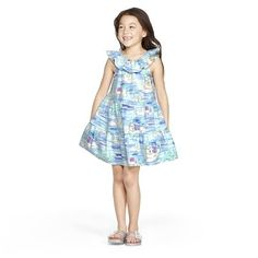 NWT Vineyard Vines Little Girls  Big Girls Sea Critter Dress Royal Ocean 3T S XL