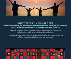 What type of mom are you? Child And Child, Your Child, What Type, Good Parenting, Need You, How To Apply, How To Make, Assessment, Bond