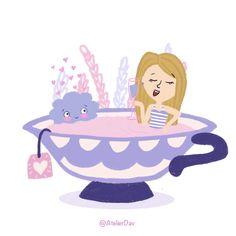Girl in a cup with a fluffy little cloud! ✨ #dtiys for @eveillustra #eveillustraredraw #drawthisinyourstyle #artchallenge #artdigital #best_of_illustration #cuteillustration #cuteart #illustration #drawthisinyourstylechallenge #procreate #tealover #kidillustration #purple #ipadart #amsterdamart #loveyourstyle #kawaiicute #illustratie #illustreren #creabea Amsterdam Art, Ipad Art, Art Challenge, Kawaii Cute, Cute Illustration, Girl Cartoon, Cute Art, Cloud, Your Style