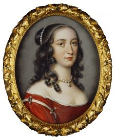 1651 Portrait by Nathaniel Hatch of Elizabeth, Princess Palatine, Abbess Hereford. Elizabeth, Princess Palatine, was the eldest daughter of Frederick V and Elizabeth of Bohemia. She became Abbess of Herford and was a close friend of Réné Descartes. Miniature Portraits, Portrait Jewelry, Portraiture, Portrait Painting, Miniature Painting, Architecture Art, The Royal Collection, Artwork, Art