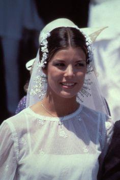 Carolina de Mónaco el día de su boda