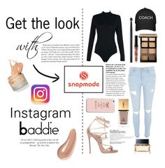 """""""Get the Look with Snapmade"""" by anoukdiaz ❤ liked on Polyvore featuring River Island, Dsquared2, Bobbi Brown Cosmetics, NARS Cosmetics, Yves Saint Laurent, Givenchy, Charlotte Tilbury, cool, makeup and instagram"""