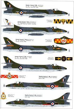 Early RAF Hawker Hunters Mk4 & Mk6
