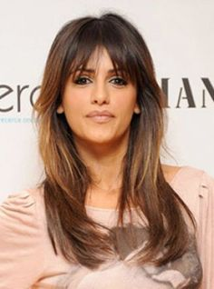 Long layered hair with bangs pictures