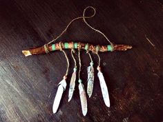 Aztec Driftwood Mobile - Bohemian Wall Hanging  - Made to Order -  Boho Tribal Decor - Hippie Home Decor - Nursery Wooden Mobile