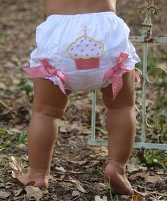 Look what I found on #zulily! White & Pink Polka Dot Cupcake Diaper Cover - Infant by Under The Hooded Towels #zulilyfinds