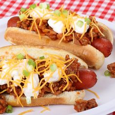 Chili Hot Dogs Recipe from Grandmother's Kitchen